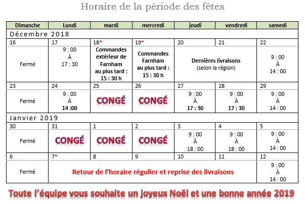 Horaire 2018 coupal
